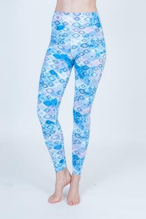 High Waist Luxurious Leggings (Reversible) Double Sided Prints-Diamonds-1