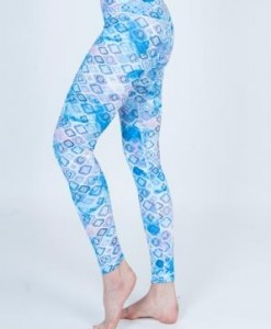 High Waist Luxurious Leggings (Reversible) Double Sided Prints-Diamonds-2