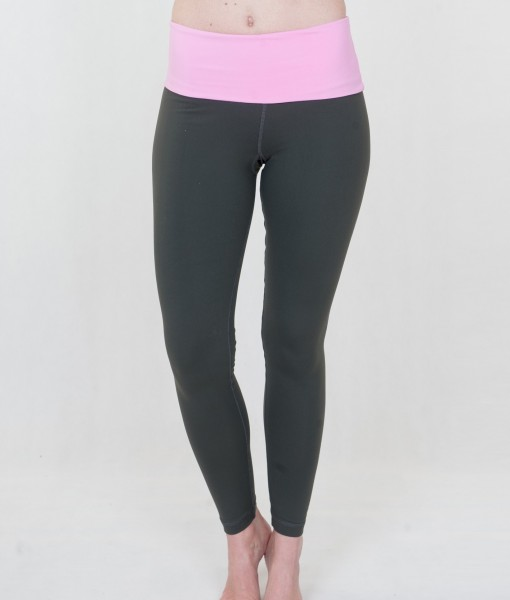 Roll down leggings - Grey